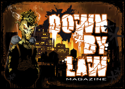 Downbylaw Magazine #6 Sticker