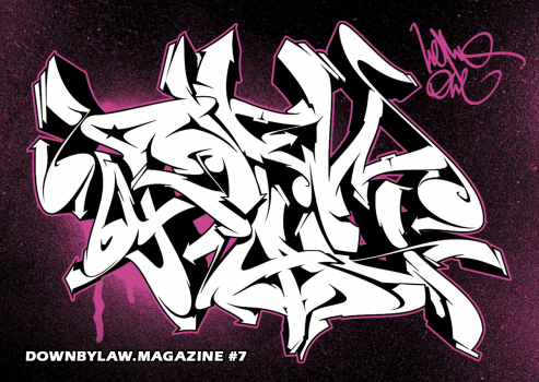 Downbylaw Magazine #7 Sticker