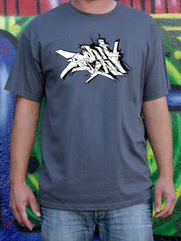 Downbylaw Slider Scetch T-Shirt / Darkgrey
