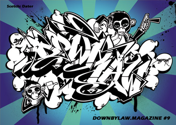 Downbylaw Magazine #9 Sticker