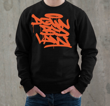 Downbylaw Tag Sweatshirt - Orange