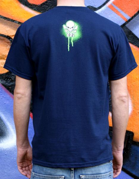 Downbylaw Graffiti T-Shirt  Nemo Scetch / Marine Blau