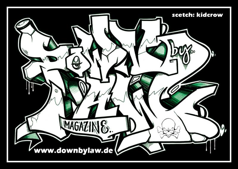 Downbylaw Magazine #2 Sticker