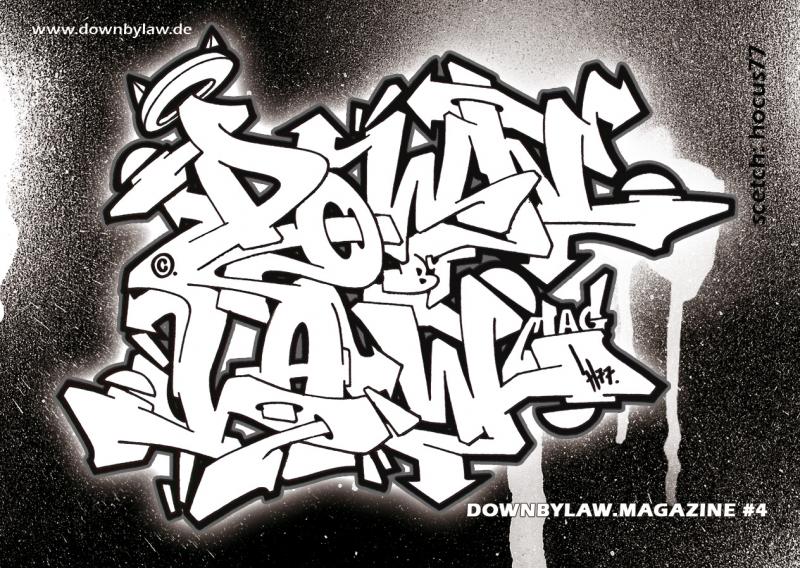 Downbylaw Magazine #4 Sticker