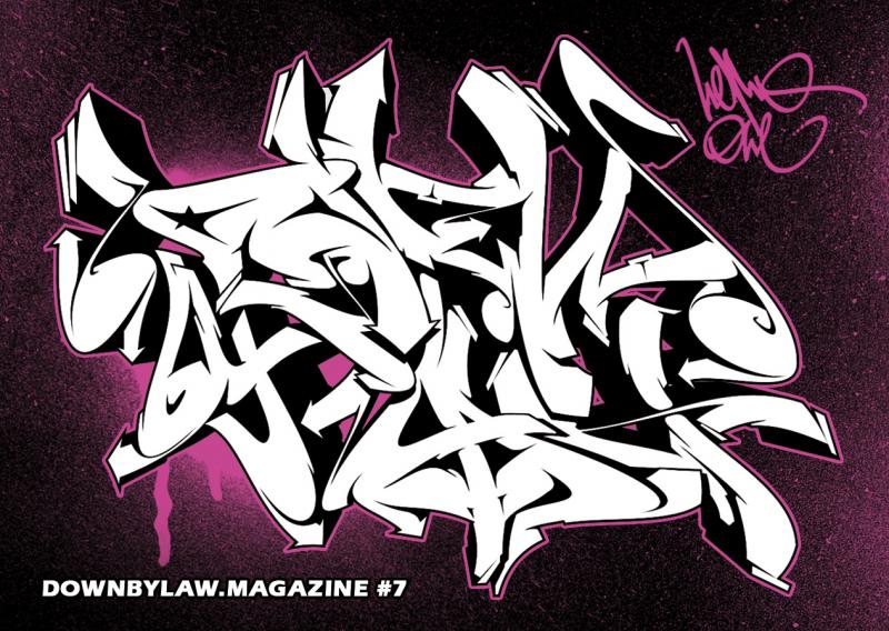 Downbylaw Magazine #7 Sticker