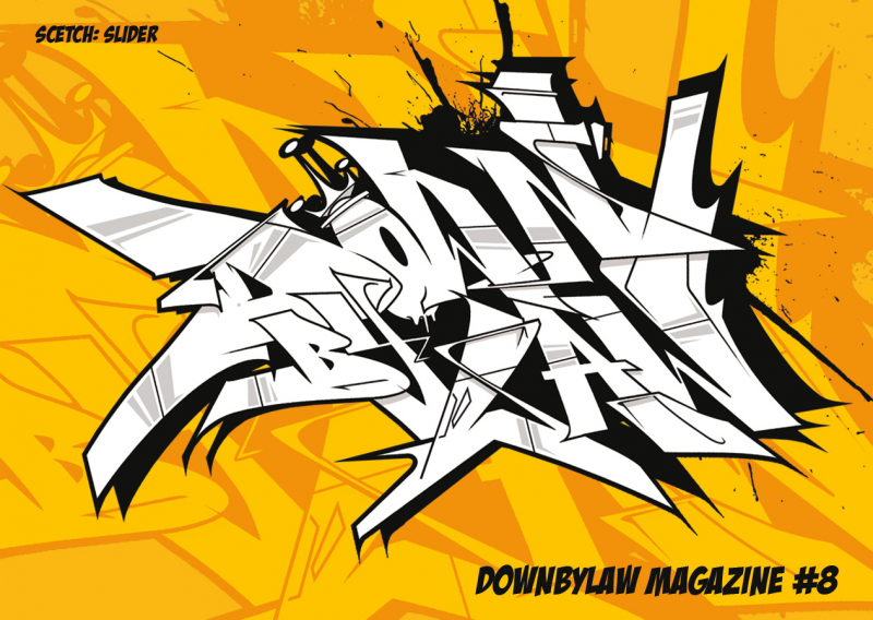 Downbylaw Magazine #8 Sticker