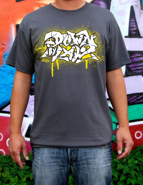 Downbylaw Akte Scetch Graffiti T-Shirt / Dunkelgrau