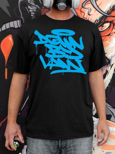 Downbylaw Tag T-Shirt-Blau