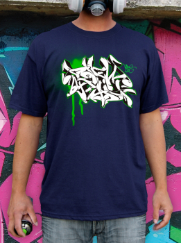 Downbylaw Graffiti T-Shirt  Nemo Scetch / Marine Blau