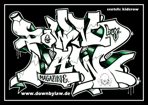 Downbylaw Magazine #2 Sticker