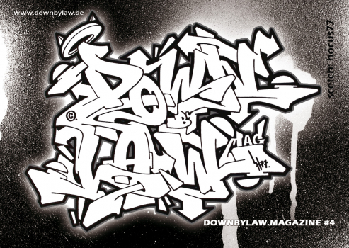 Downbylaw Magazine #4 Sticker