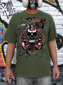 Downbylaw Magazine #11  T-Shirt by Ojey / Army Green