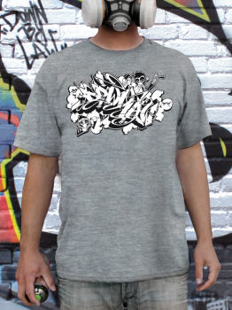Downbylaw Dater Scetch Graffiti T-Shirt / Sport Grey