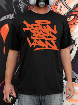 Downbylaw Tag T-Shirt-Orange