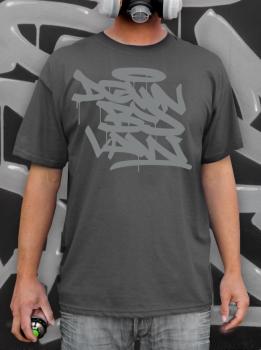 Downbylaw Tag T-Shirt-Grau/Grau