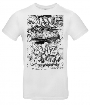 Downbylaw Train Scetch - T-Shirt by Moter